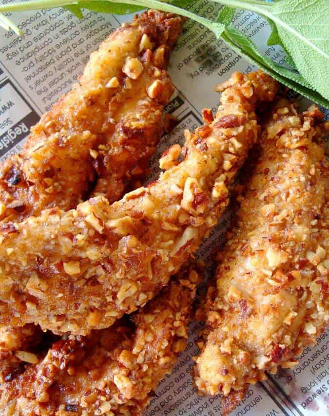 Pecan Crusted Healthy Fried Chicken