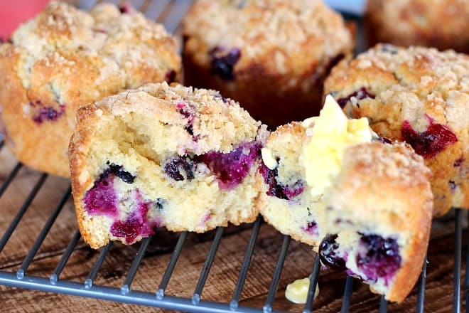 "Perfect Blueberry Muffins in this easy blueberry muffin recipe. Incredibly moist and flavorful, ""gourmet"" muffins."