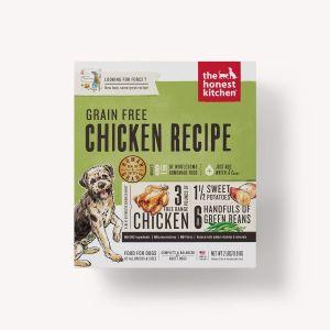 honest kitchen grain free chicken force recipe front view