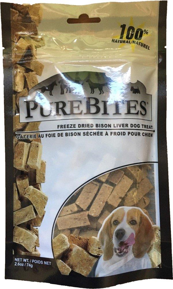 Purebites Freeze Dried All Natural Bison Liver Treats