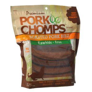 premium pork chomps ribz front view