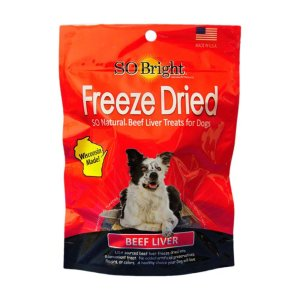 so bright freeze beef liver treats front view