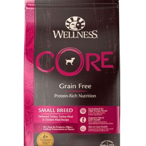 wellness core grain free small breed 12# front view