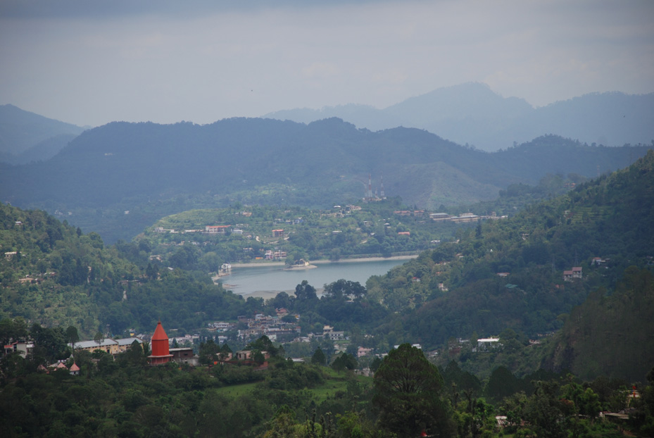 A view of Bhimtal from a distance