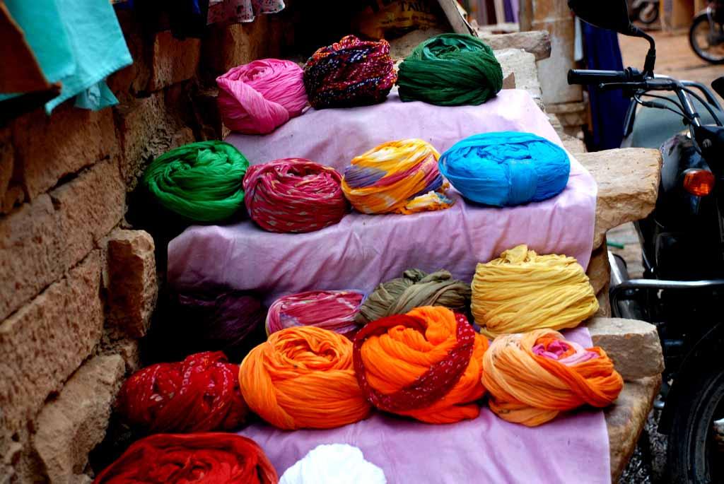 Pretty turbans, all in a row!