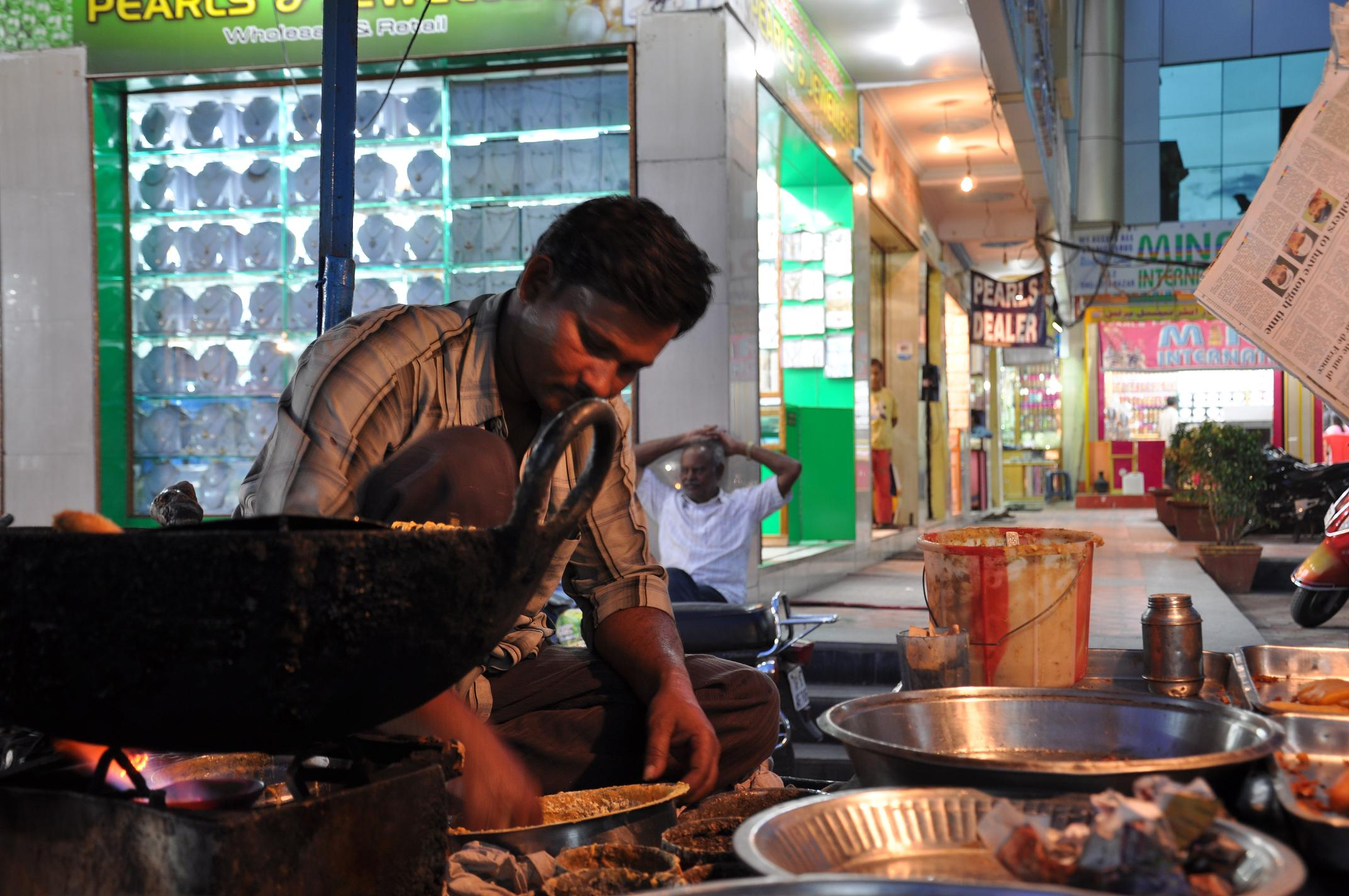 A Hyderabadi about to feed