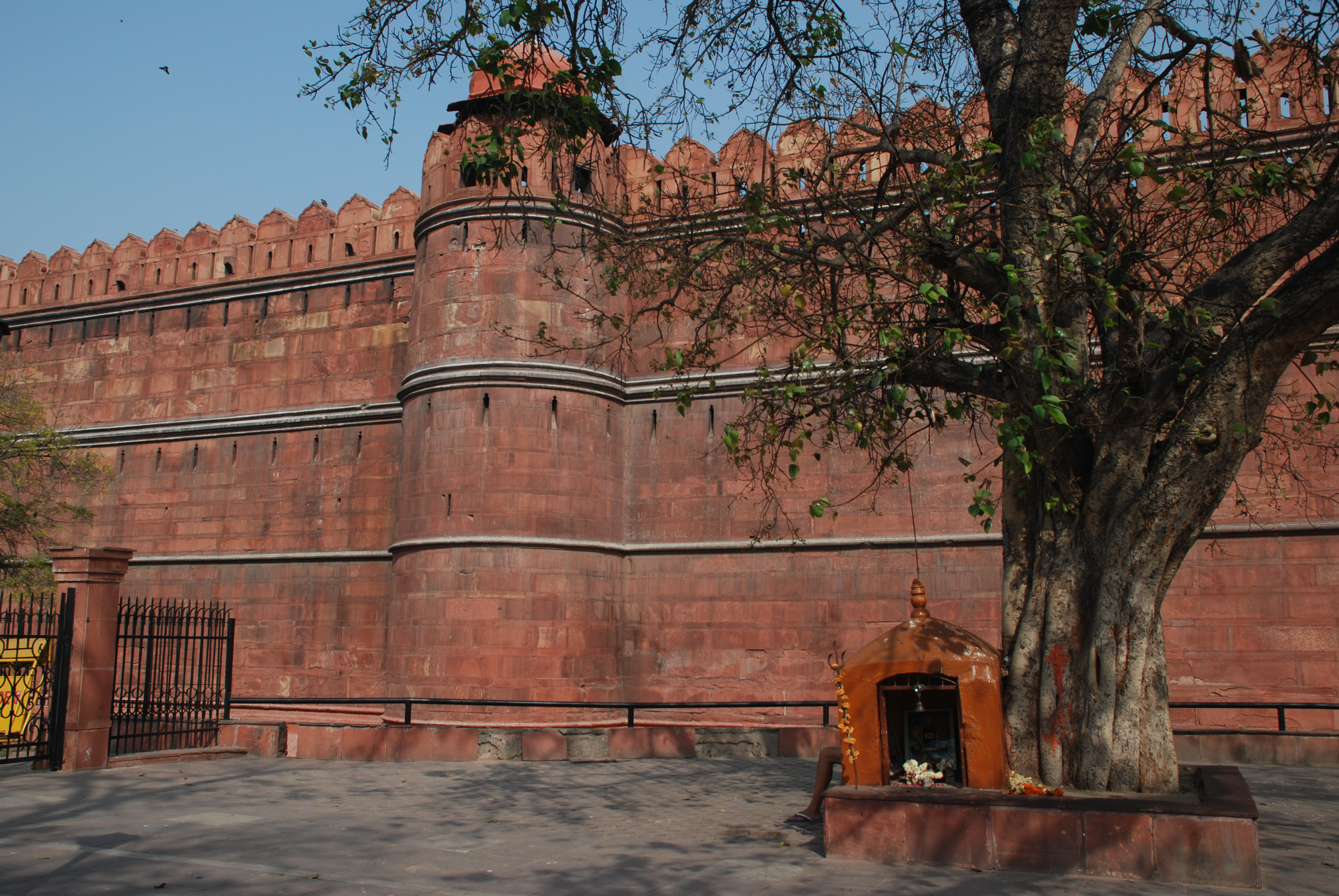 The red walls of the fort