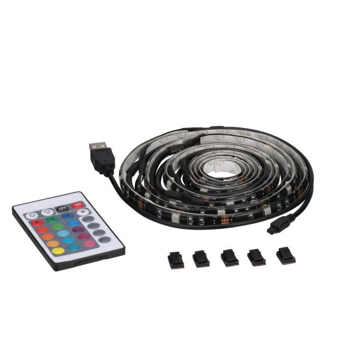 7 ft led rgbw flexible usb tape light black