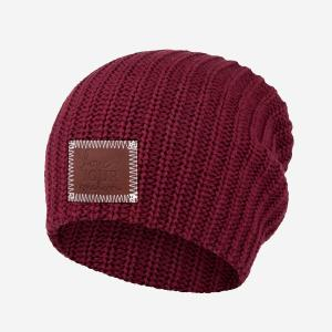 Love Your Melon    Black Speckled Beanie (Burgundy) 031740f2415