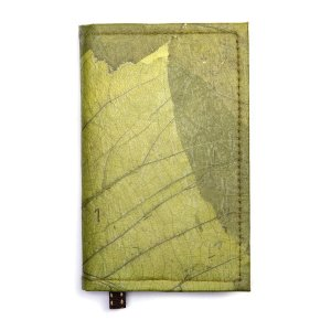 Green Leaf Leather Notebook