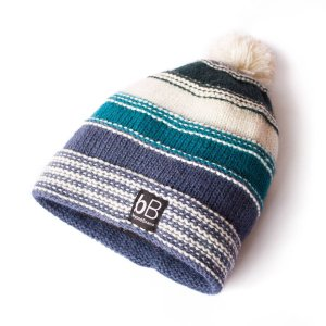 White Ethnic Rad Surfer Beanie