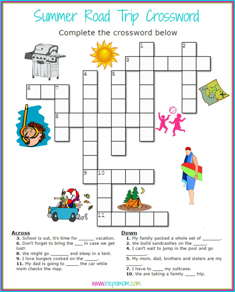 Summer Vacation Crossword Puzzle Answers Leancy Travel