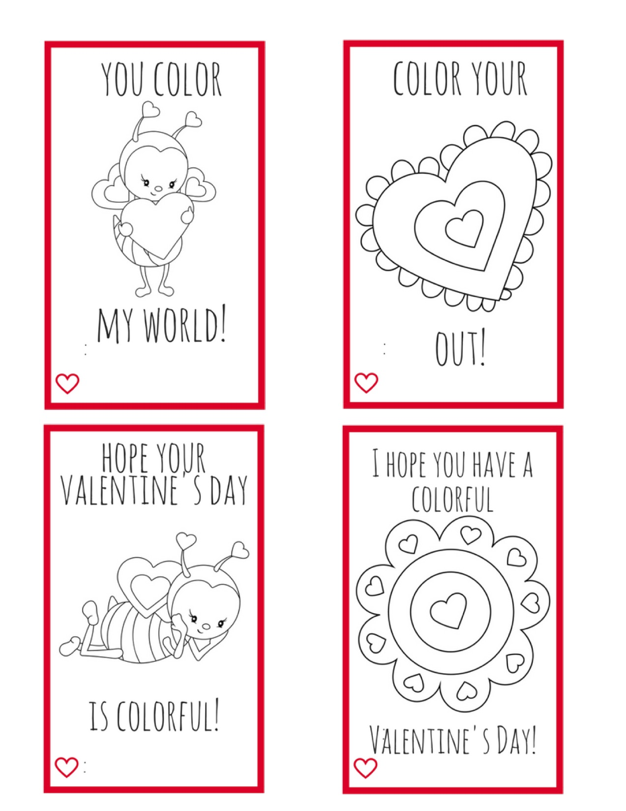 Printable Valentine Cards For Kids Perfect For Kids To Make For Their Friends