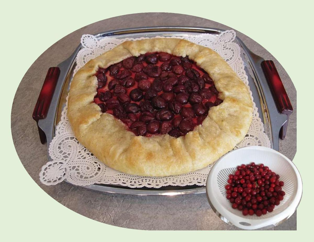 Sour Cherry Cheesecake Galette