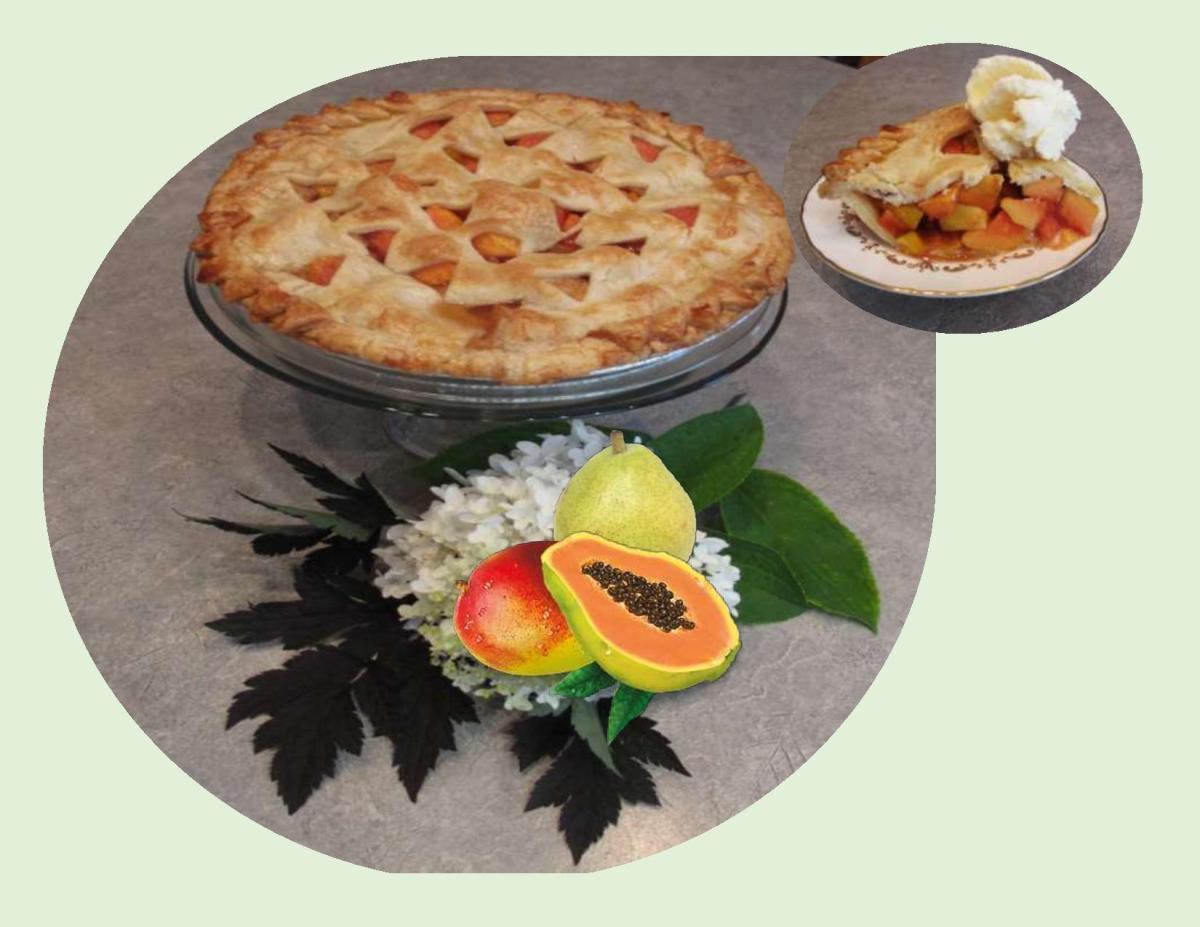 Papaya, Mango & Pear Pie