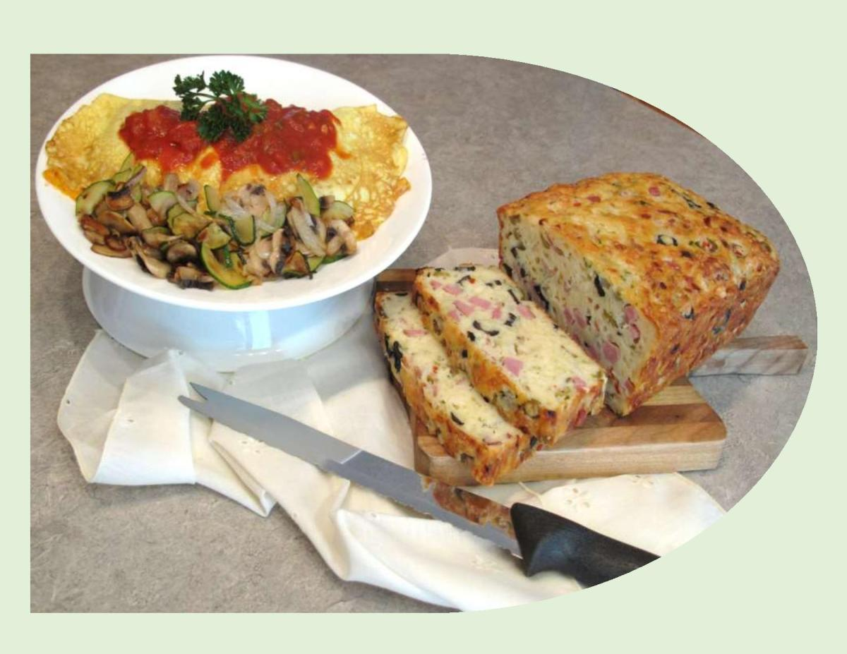 Ham & Olive Bread with 'Spanish' Omelettes