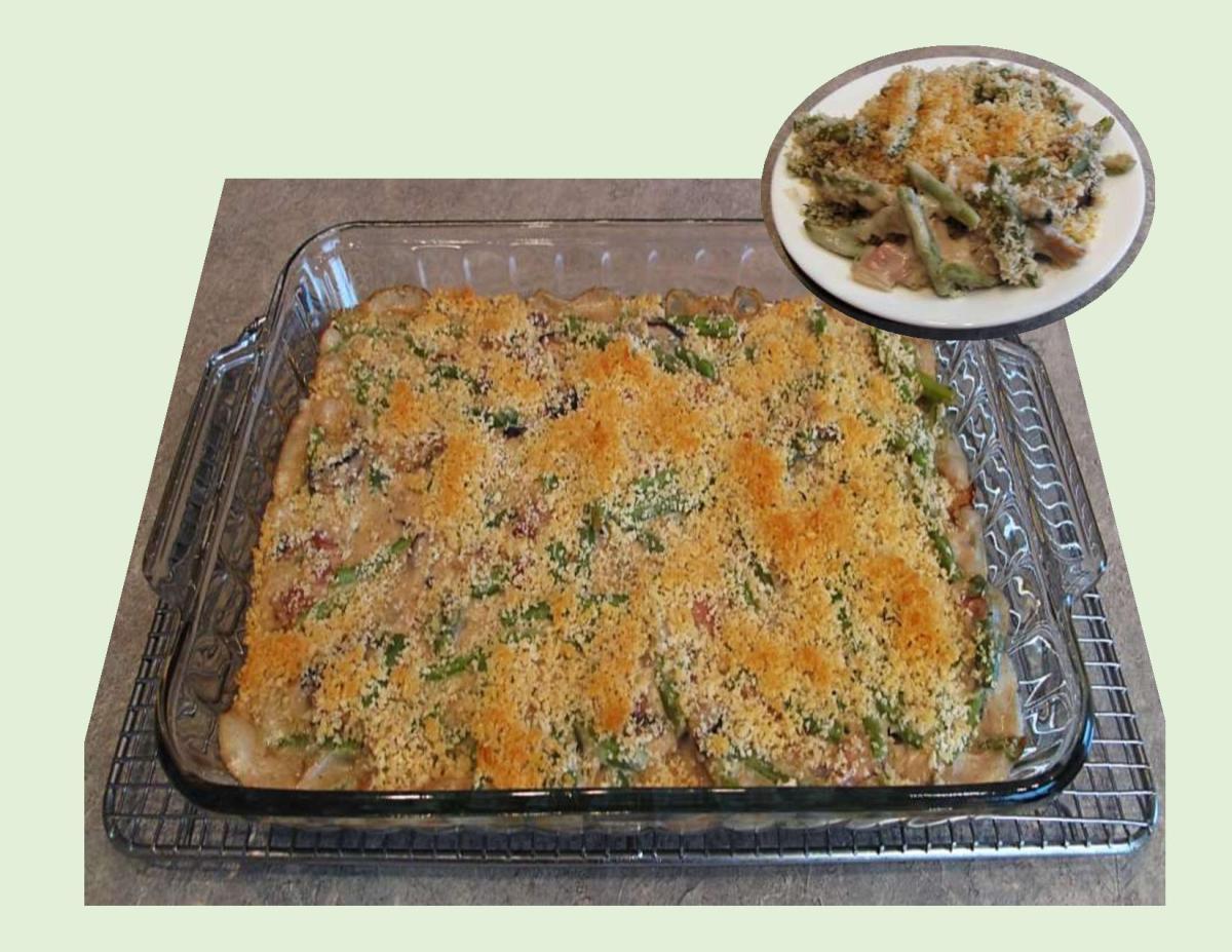 Panko-Crusted Green Bean & Mushroom Casserole