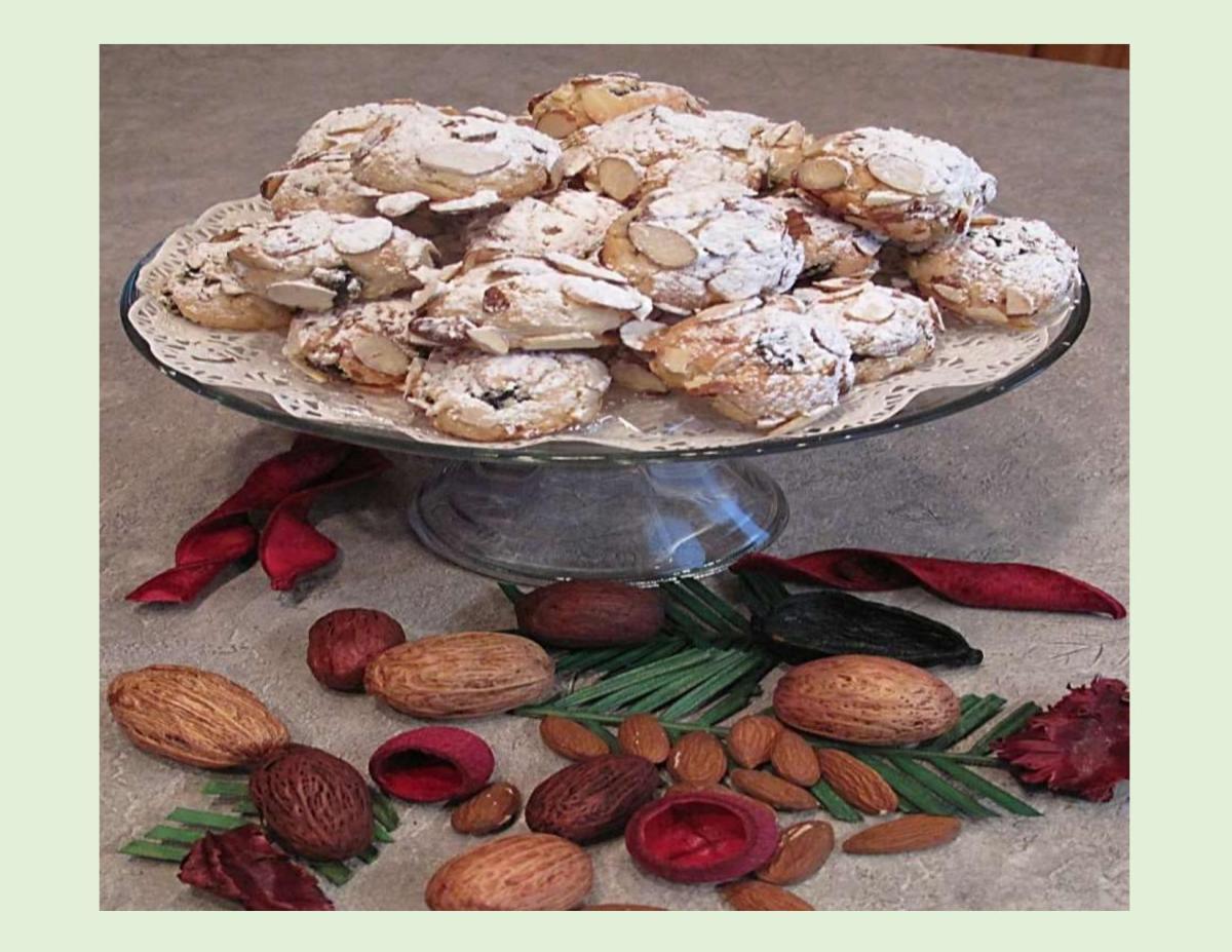 Cherry Marzipan Cookies