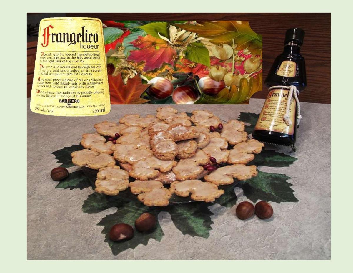 Hazelnut Liqueur Shortbread Cookies