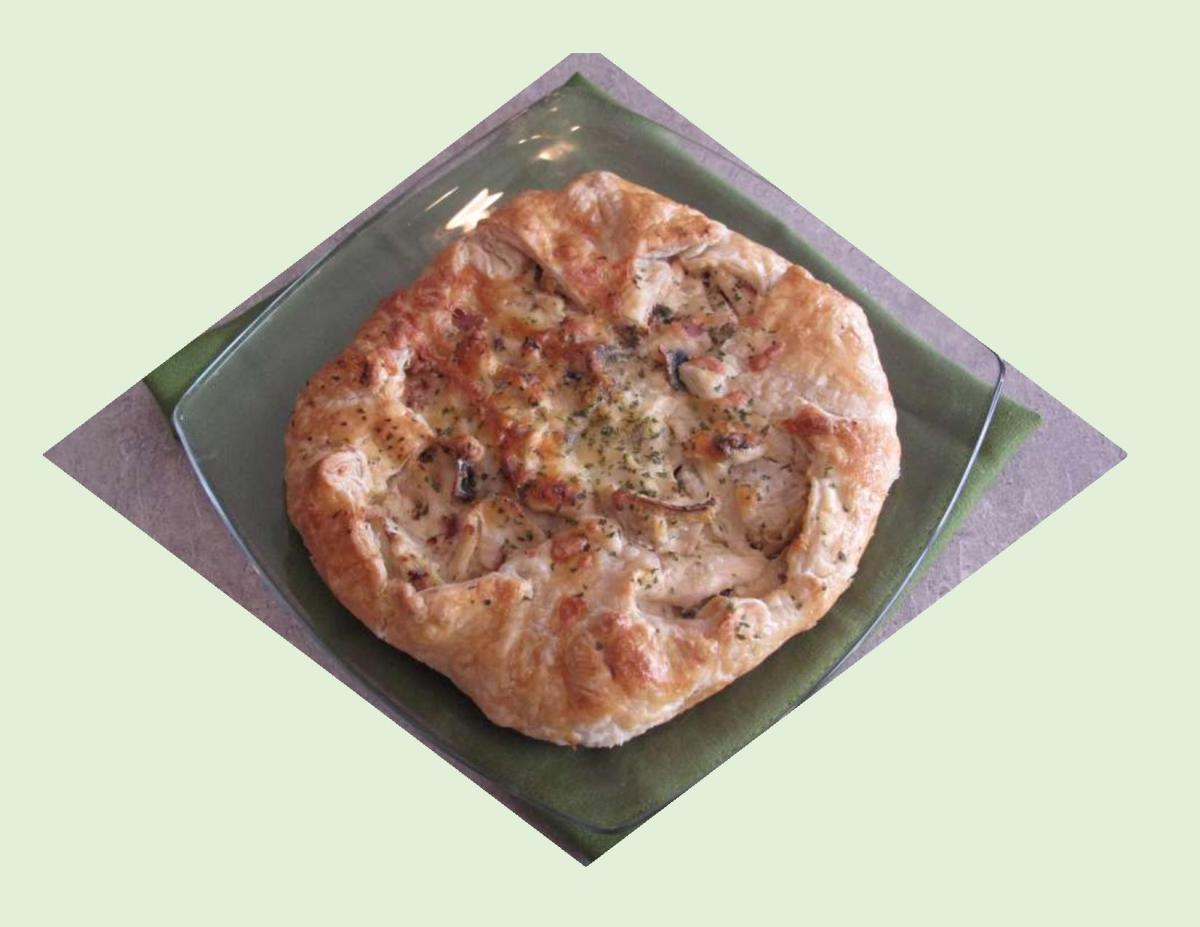 Savory Artichoke, Chicken & Mushroom Galette