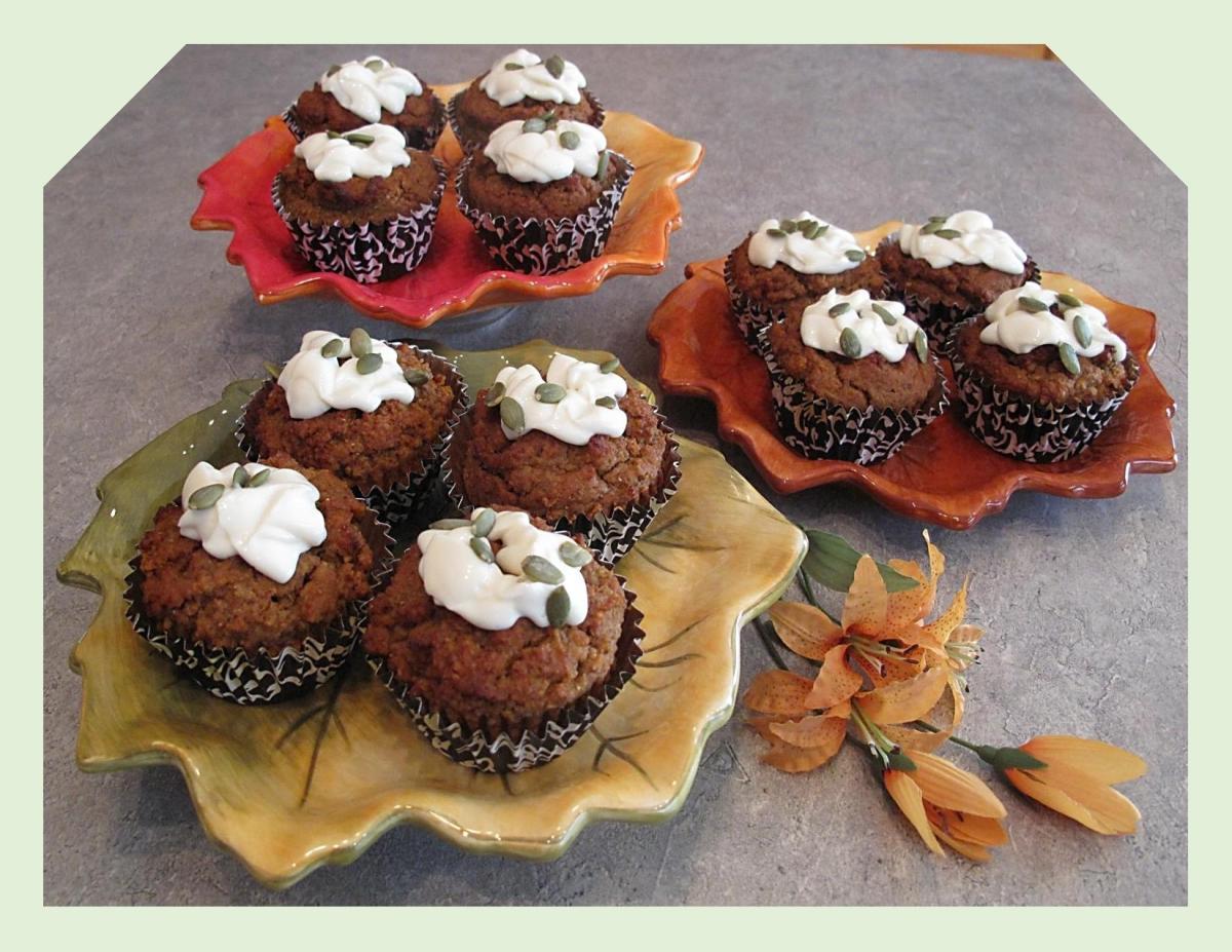 Pumpkin Hazelnut Muffins with Teff Flour