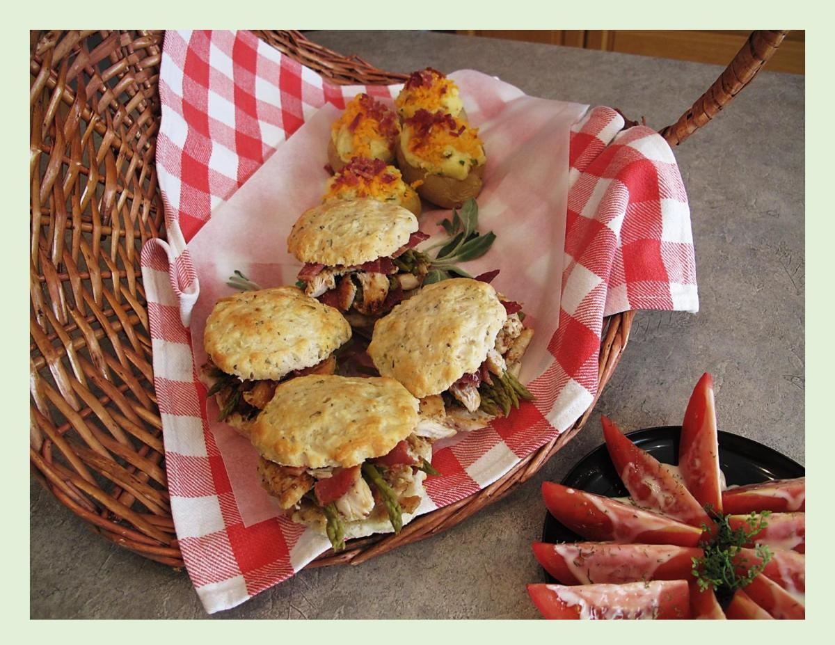Savory Chicken Picnic Scones