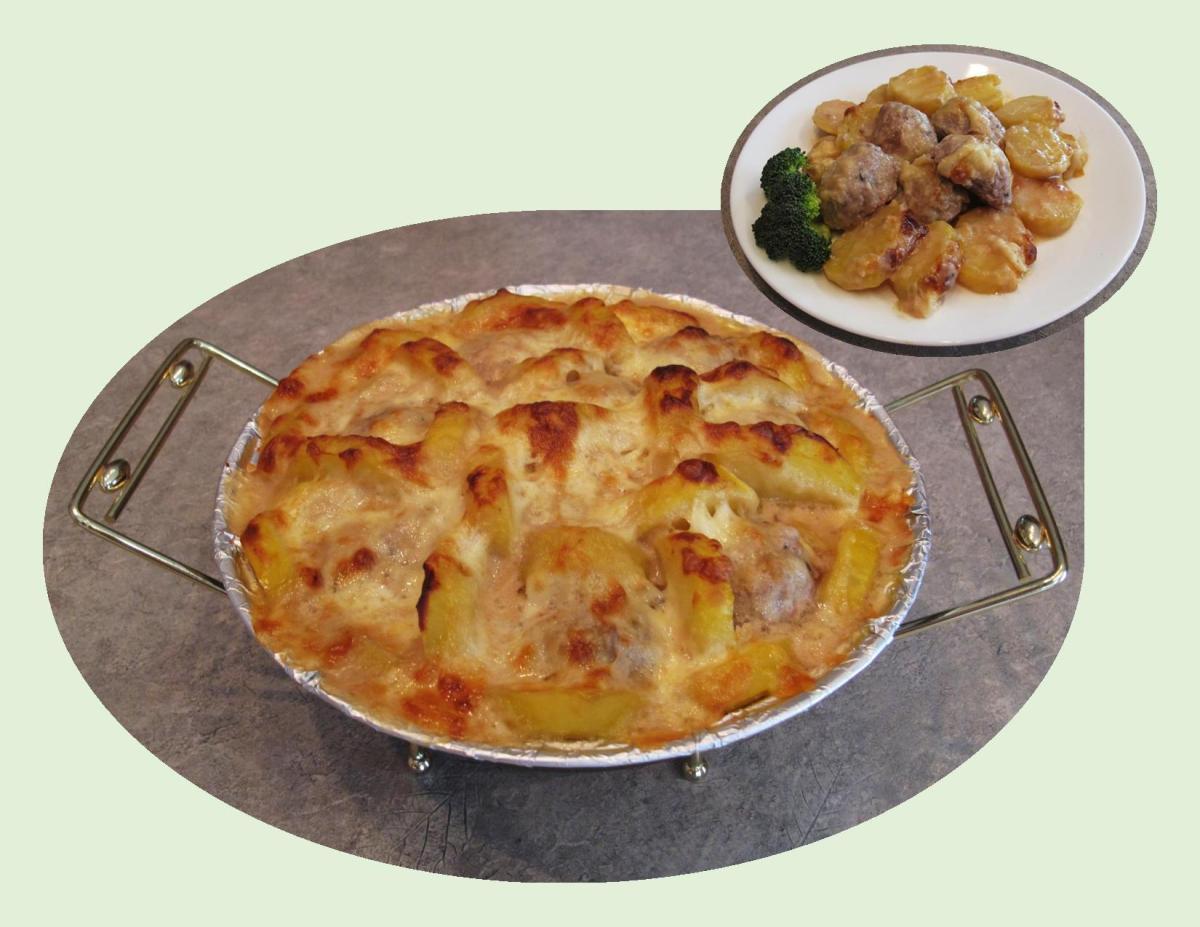Swedish Meatball & Potato Casserole