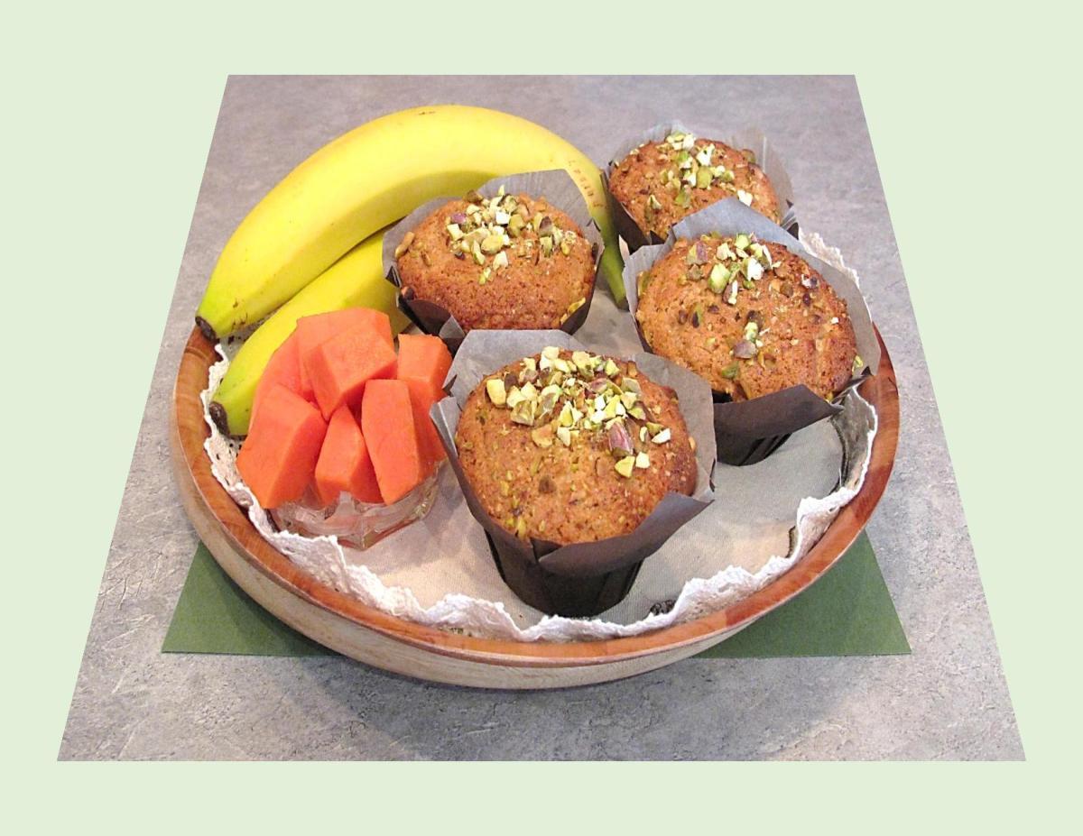 Spiced Papaya-Banana Muffins