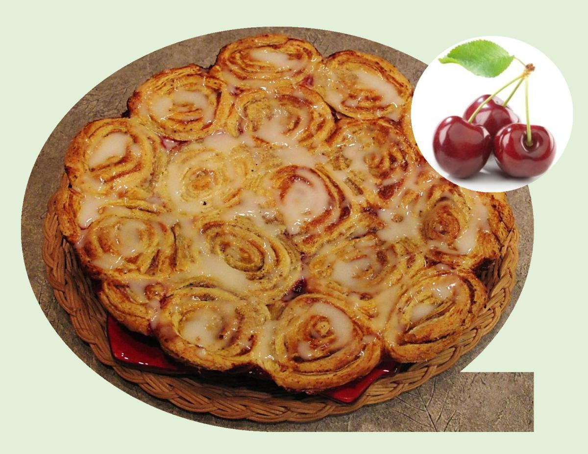 'Cinnamon Roll' Cherry Pie