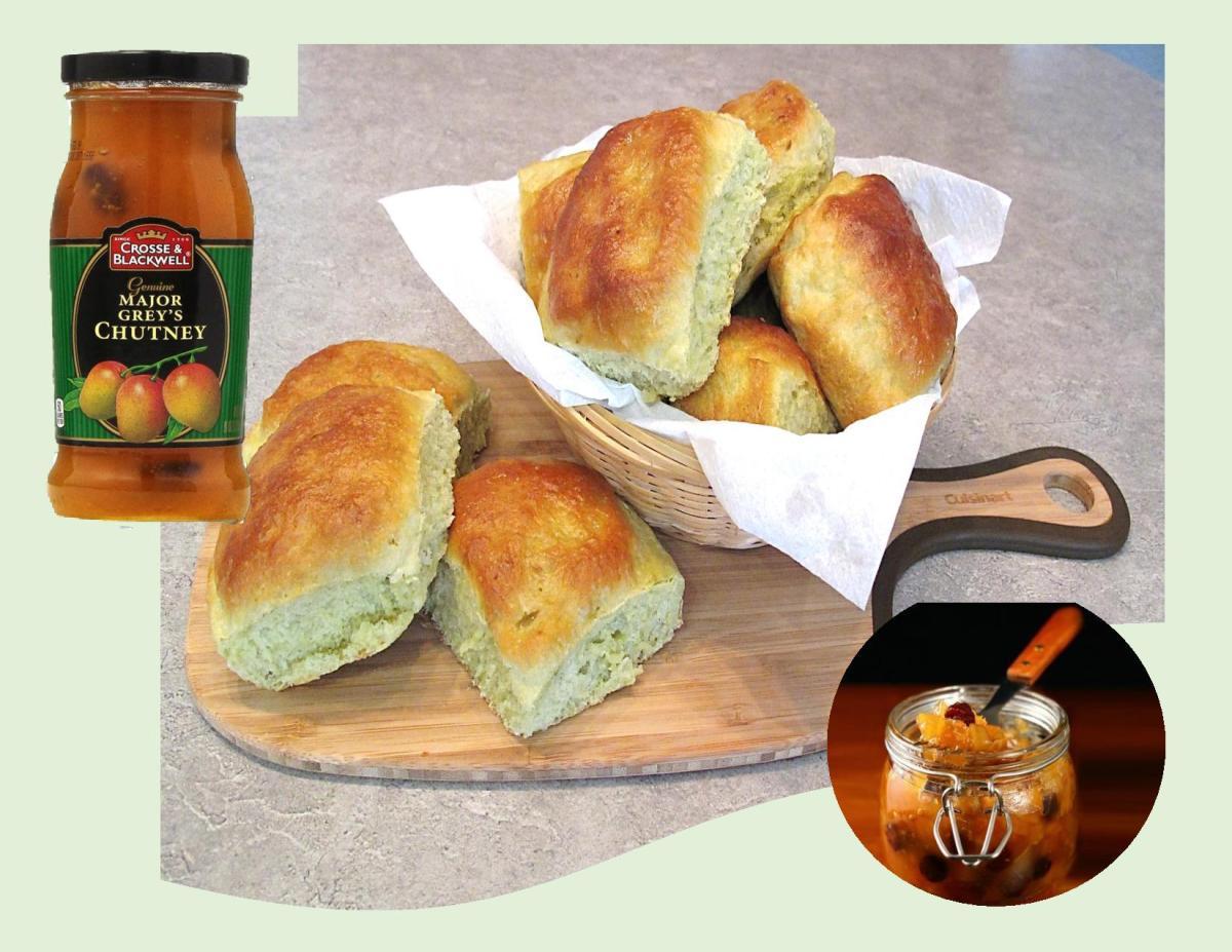 Avocado Dinner Buns w/ Major Grey's Mango Chutney