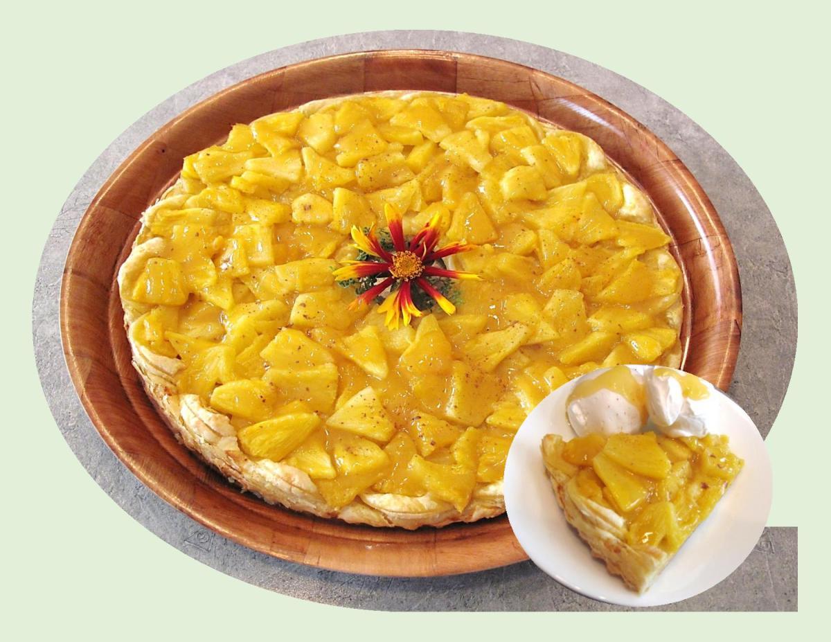 Spiced Pineapple Puff Tart