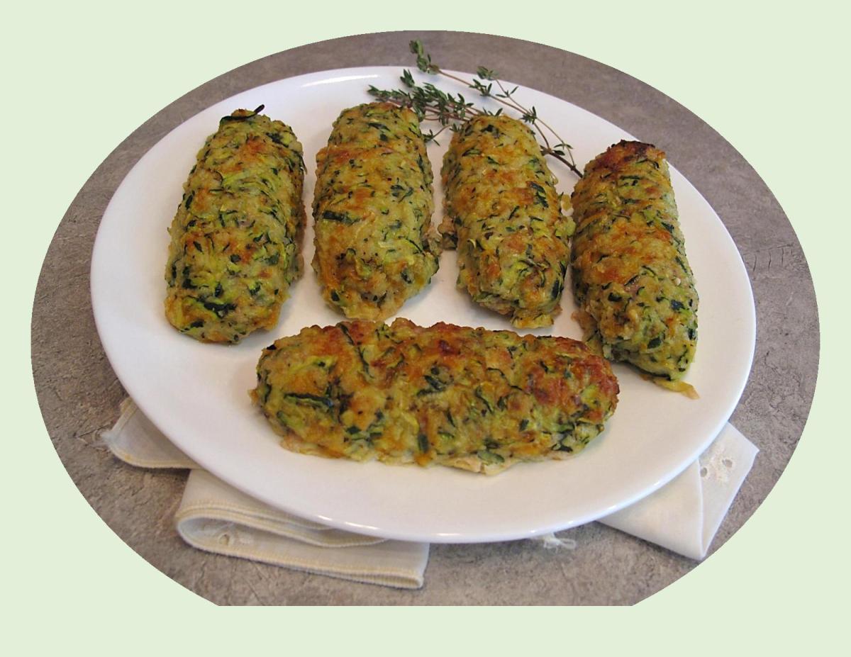 Zucchini Crusted Turkey Bratwurst