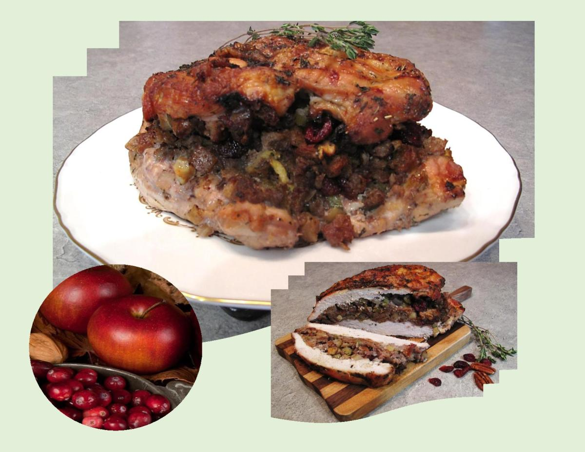 Roast Turkey Breast w/ Sausage, Pecans & Cranberry Stuffing