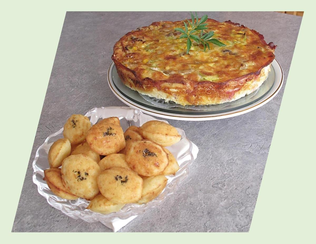 Bacon Crusted Quiche w/ Savory Madeleines