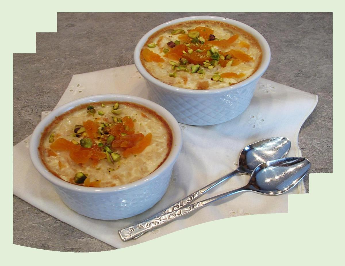 Baked Apricot Rice Pudding