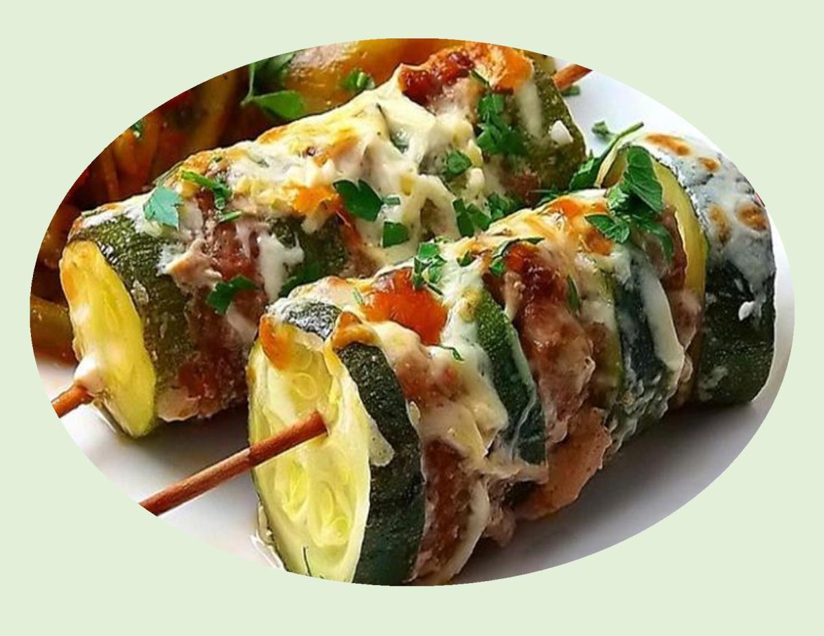 Turkey Zucchini Kebabs