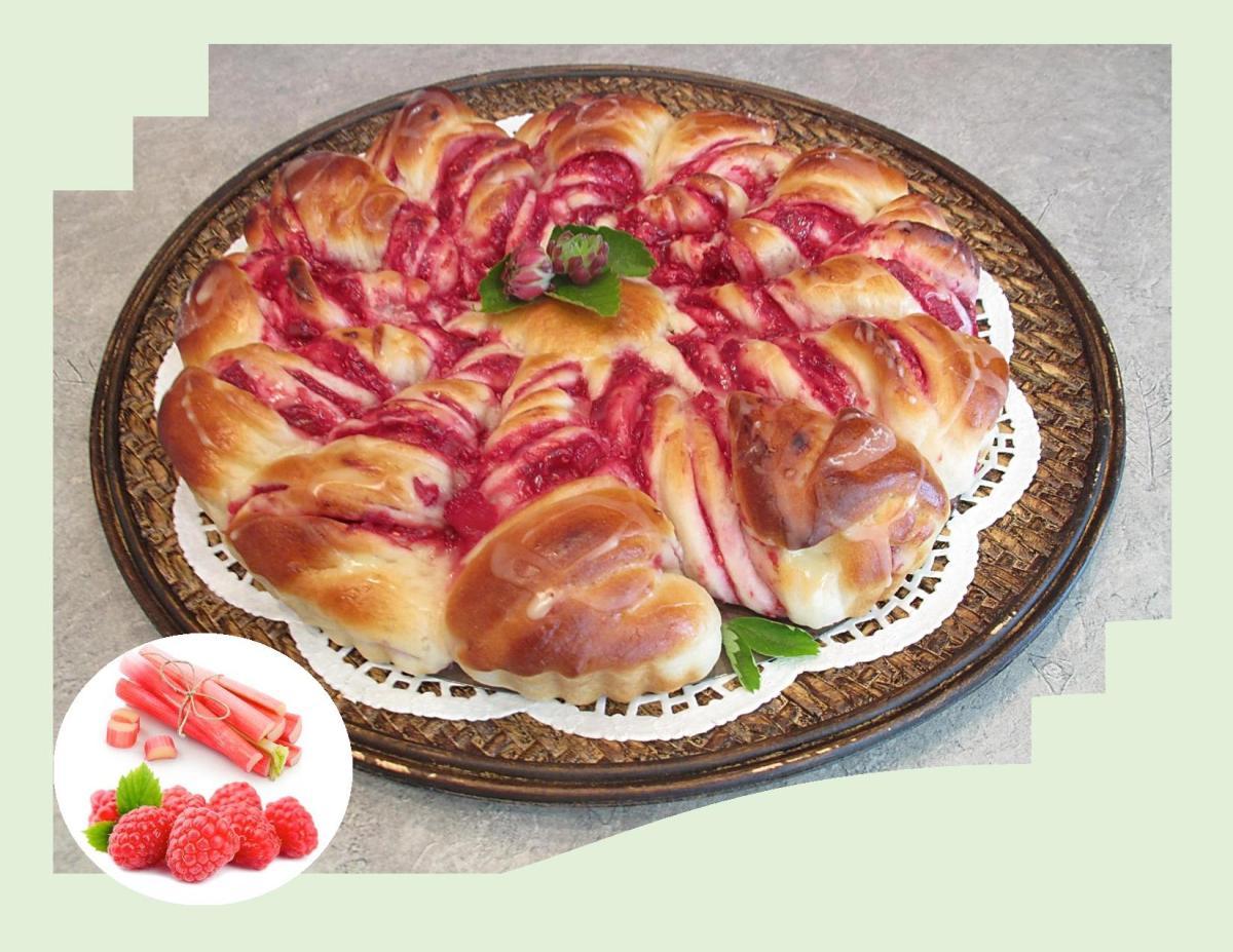 Raspberry Rhubarb Twists