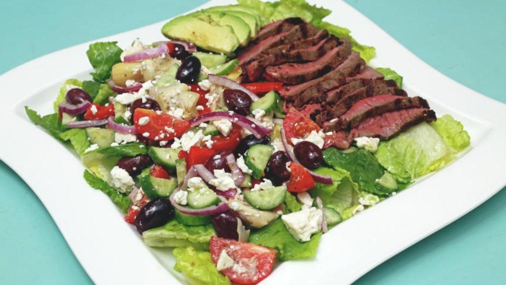 Mediterranean Steak Salad 16-9