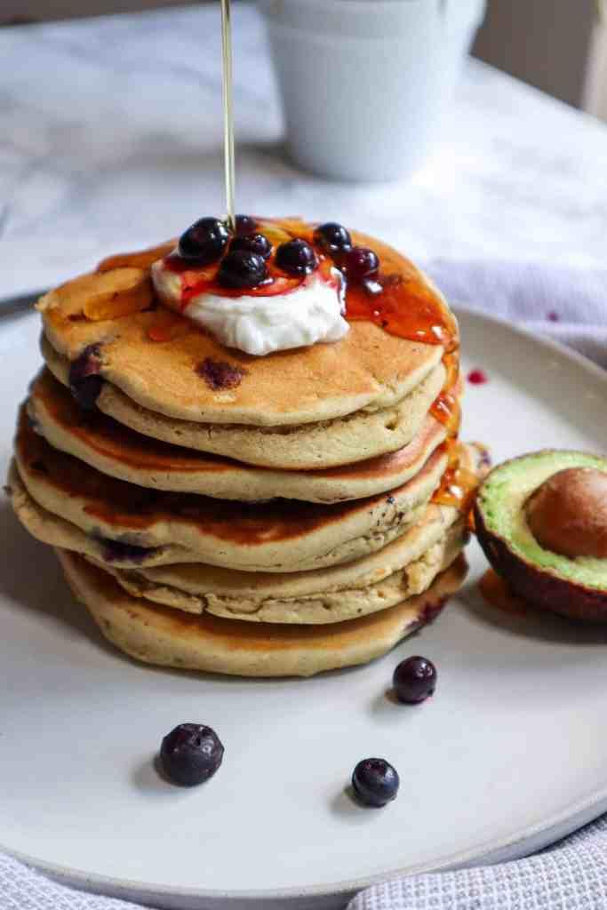Healthy Blueberry Avocado Pancakes