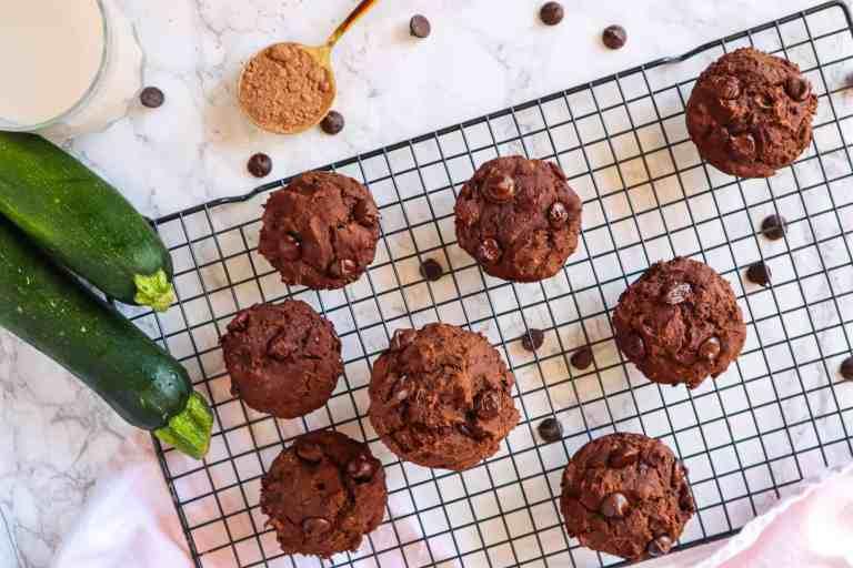 vegan and gluten free muffins with zucchini