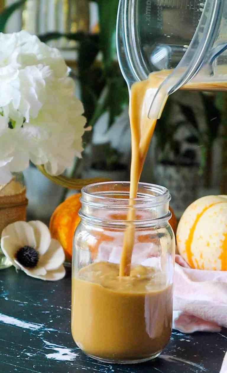 vegan fall drinks spice latte