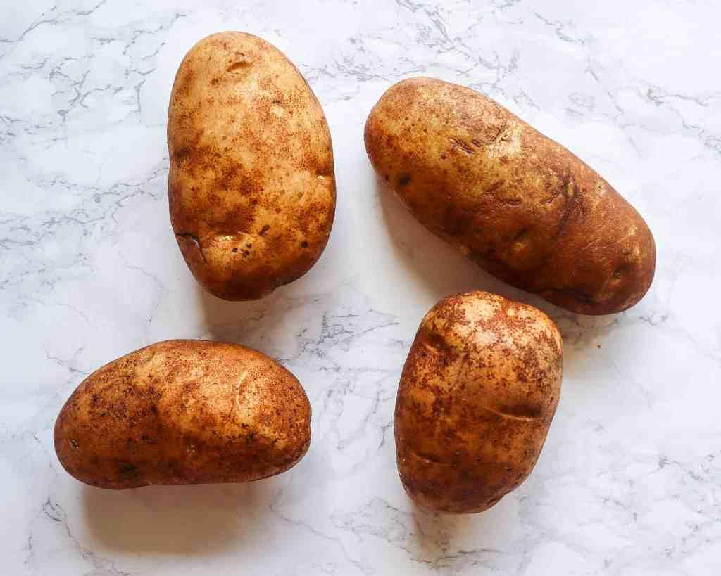 four large russet potatoes