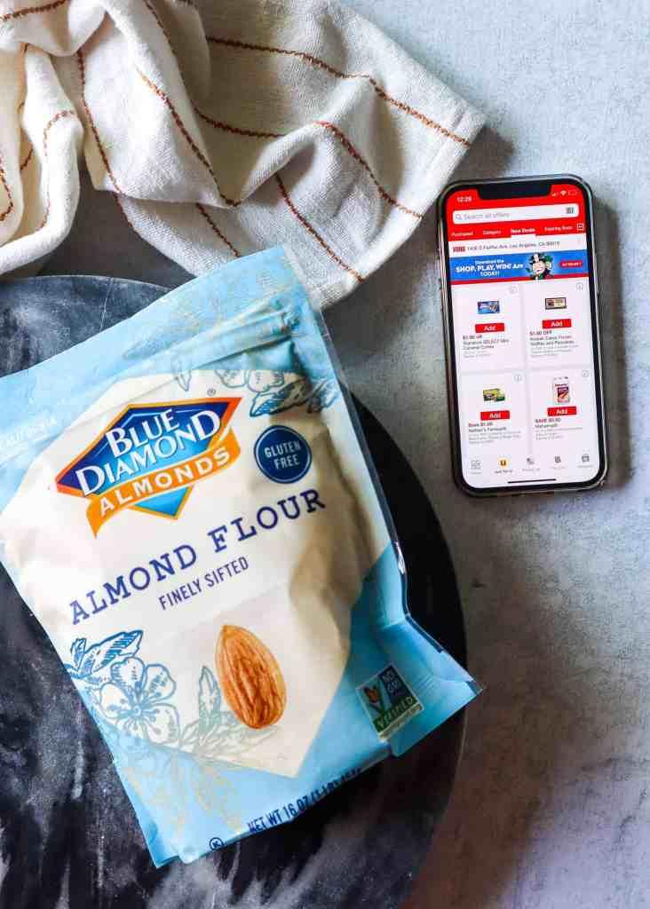 blue diamond almond flour and vons mobile app