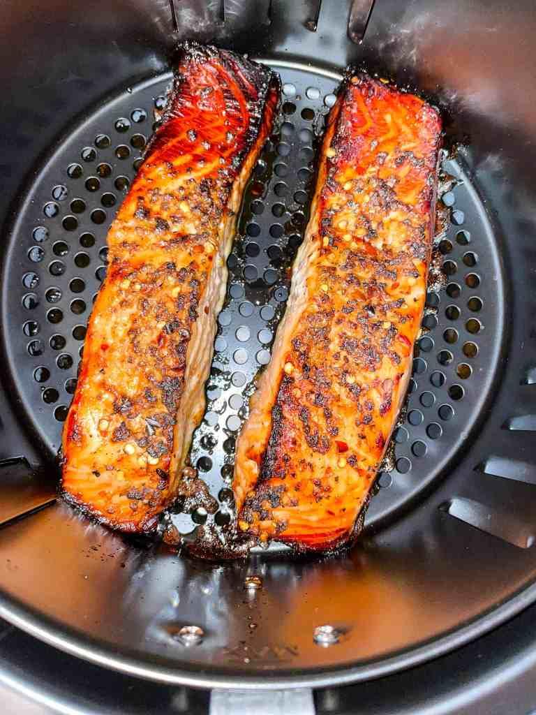 best air fryer honey garlic glazed salmon
