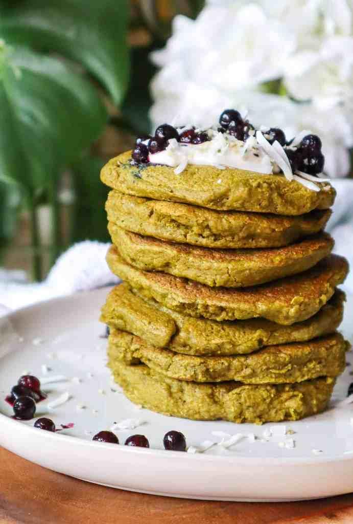 Gluten Free Vegan Moringa Pancakes by Good Food Baddie