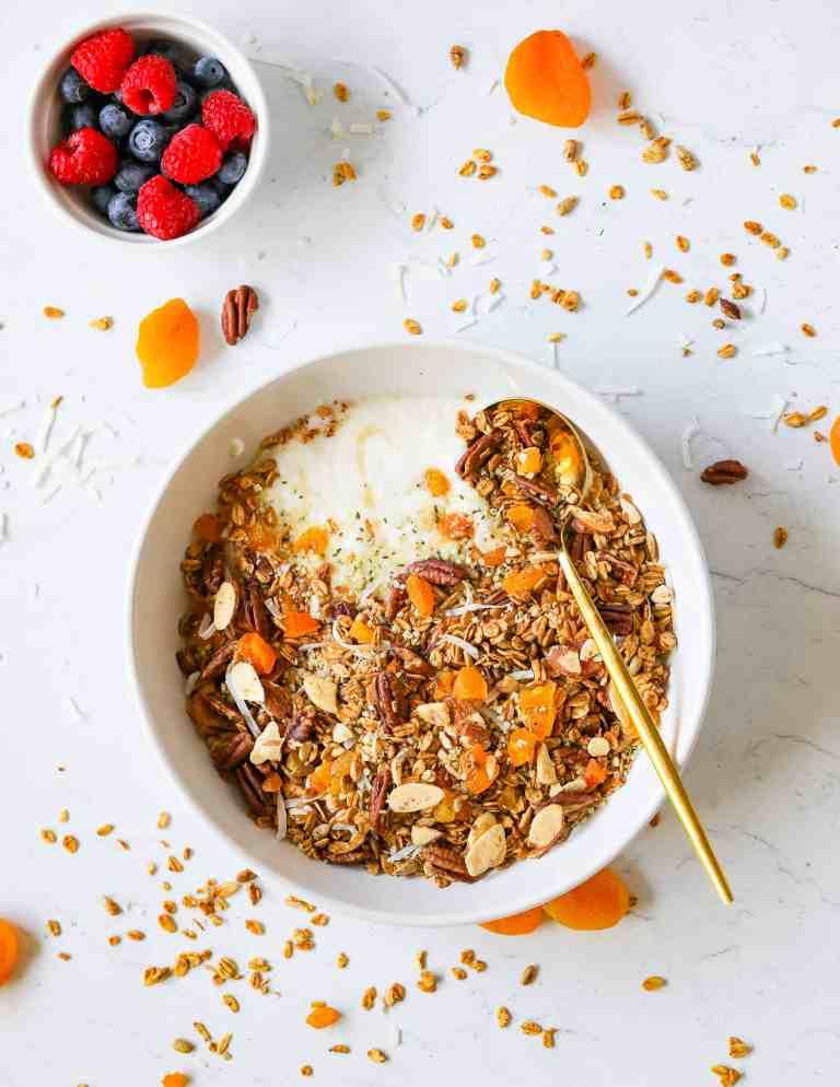 Gluten Free Homemade Granola with Sea Moss in Yogurt
