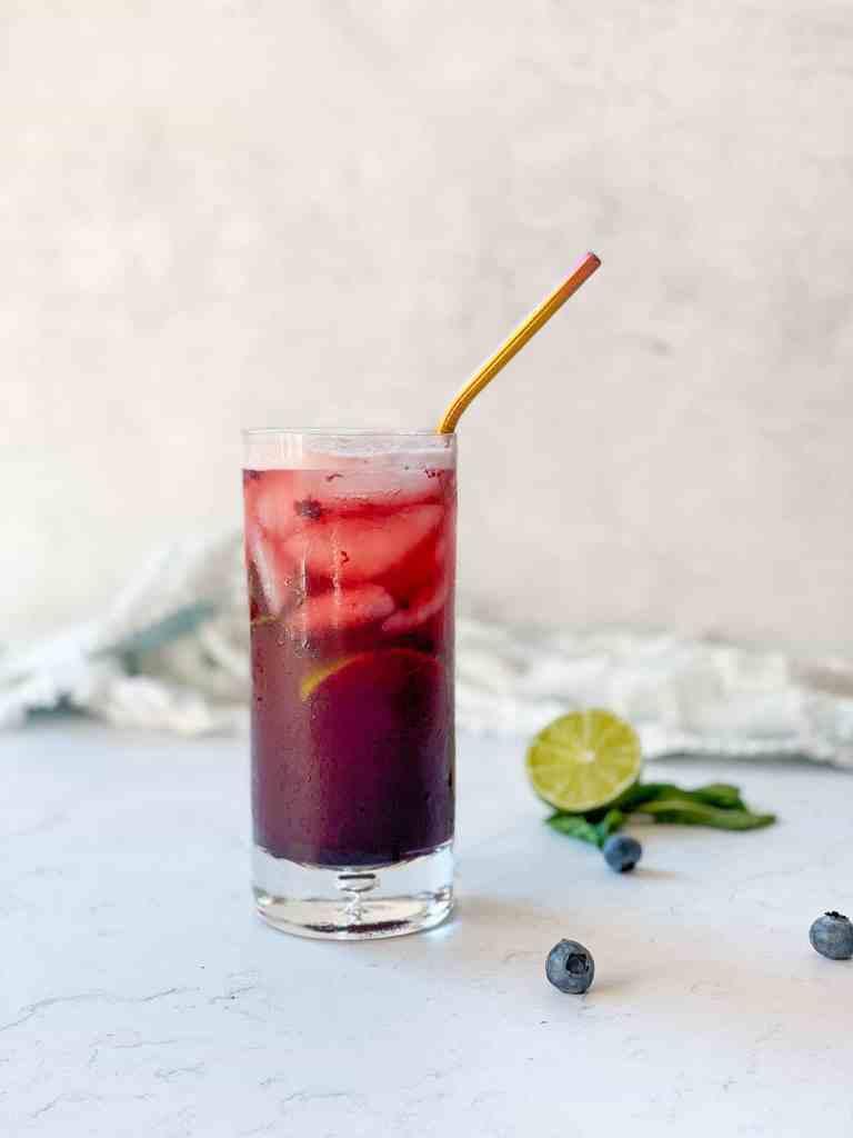 Blueberry Espresso Tonic Drink