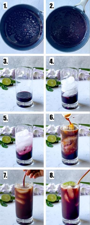 how to make blueberry espresso tonic