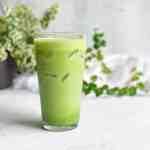 The Best Homemade Dairy-Free Iced matcha Latte Recipe Starbucks Copy Cat