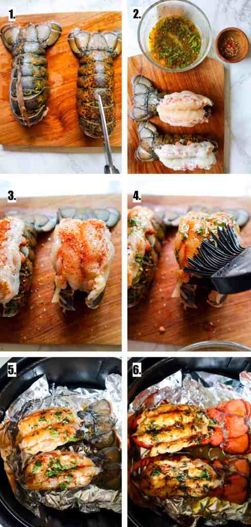 how to cook lobster tail in the air fryer